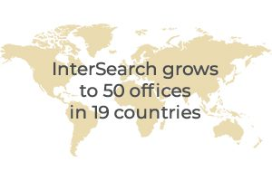 1992 - InterSearch grows to 50 offices in 19 countries